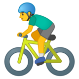 Man Biking on Google Android 10.0 March 2020 Feature Drop