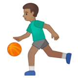 Man Bouncing Ball: Medium Skin Tone on Google Android 10.0 March 2020 Feature Drop