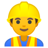 Man Construction Worker on Google Android 10.0 March 2020 Feature Drop