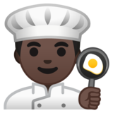 Man Cook: Dark Skin Tone on Google Android 10.0 March 2020 Feature Drop