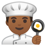 Man Cook: Medium-Dark Skin Tone on Google Android 10.0 March 2020 Feature Drop