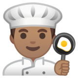 Man Cook: Medium Skin Tone on Google Android 10.0 March 2020 Feature Drop