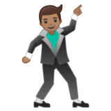 Man Dancing: Medium Skin Tone on Google Android 10.0 March 2020 Feature Drop