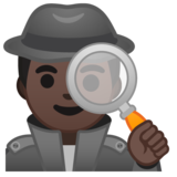 Man Detective: Dark Skin Tone on Google Android 10.0 March 2020 Feature Drop