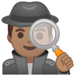 Man Detective: Medium Skin Tone on Google Android 10.0 March 2020 Feature Drop