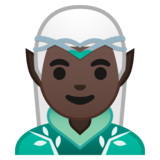 Man Elf: Dark Skin Tone on Google Android 10.0 March 2020 Feature Drop