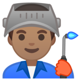 Man Factory Worker: Medium Skin Tone on Google Android 10.0 March 2020 Feature Drop