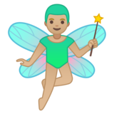 Man Fairy: Medium-Light Skin Tone on Google Android 10.0 March 2020 Feature Drop