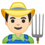 Man Farmer: Light Skin Tone on Google Android 10.0 March 2020 Feature Drop