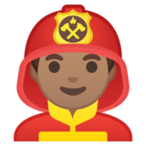 Man Firefighter: Medium Skin Tone on Google Android 10.0 March 2020 Feature Drop