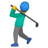 Man Golfing on Google Android 10.0 March 2020 Feature Drop