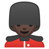 Man Guard: Dark Skin Tone on Google Android 10.0 March 2020 Feature Drop
