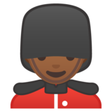 Man Guard: Medium-Dark Skin Tone on Google Android 10.0 March 2020 Feature Drop