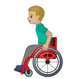 Man in Manual Wheelchair: Medium-Light Skin Tone on Google Android 10.0 March 2020 Feature Drop