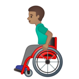 Man in Manual Wheelchair: Medium Skin Tone on Google Android 10.0 March 2020 Feature Drop