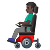 Man in Motorized Wheelchair: Dark Skin Tone on Google Android 10.0 March 2020 Feature Drop