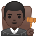 Man Judge: Dark Skin Tone on Google Android 10.0 March 2020 Feature Drop