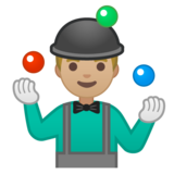 Man Juggling: Medium-Light Skin Tone on Google Android 10.0 March 2020 Feature Drop