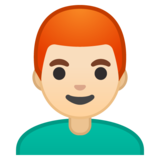 Man: Light Skin Tone, Red Hair on Google Android 10.0 March 2020 Feature Drop