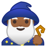 Man Mage: Medium-Dark Skin Tone on Google Android 10.0 March 2020 Feature Drop
