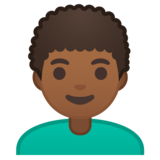 Man: Medium-Dark Skin Tone, Curly Hair on Google Android 10.0 March 2020 Feature Drop