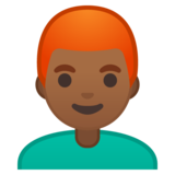 Man: Medium-Dark Skin Tone, Red Hair on Google Android 10.0 March 2020 Feature Drop