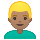 Man: Medium Skin Tone, Blond Hair on Google Android 10.0 March 2020 Feature Drop