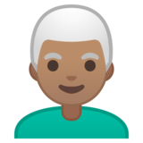 Man: Medium Skin Tone, White Hair on Google Android 10.0 March 2020 Feature Drop