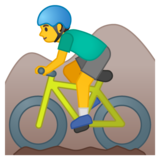 Man Mountain Biking on Google Android 10.0 March 2020 Feature Drop