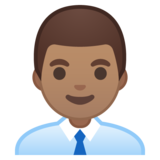 Man Office Worker: Medium Skin Tone on Google Android 10.0 March 2020 Feature Drop