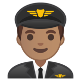 Man Pilot: Medium Skin Tone on Google Android 10.0 March 2020 Feature Drop
