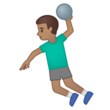 Man Playing Handball: Medium Skin Tone on Google Android 10.0 March 2020 Feature Drop