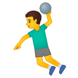 Man Playing Handball on Google Android 10.0 March 2020 Feature Drop