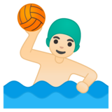 Man Playing Water Polo: Light Skin Tone on Google Android 10.0 March 2020 Feature Drop