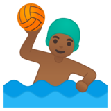 Man Playing Water Polo: Medium-Dark Skin Tone on Google Android 10.0 March 2020 Feature Drop