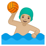 Man Playing Water Polo: Medium-Light Skin Tone on Google Android 10.0 March 2020 Feature Drop