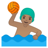 Man Playing Water Polo: Medium Skin Tone on Google Android 10.0 March 2020 Feature Drop
