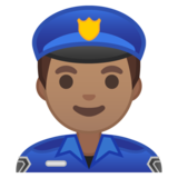 Man Police Officer: Medium Skin Tone on Google Android 10.0 March 2020 Feature Drop