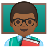 Man Teacher: Medium-Dark Skin Tone on Google Android 10.0 March 2020 Feature Drop