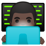 Man Technologist: Dark Skin Tone on Google Android 10.0 March 2020 Feature Drop