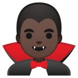 Man Vampire: Dark Skin Tone on Google Android 10.0 March 2020 Feature Drop