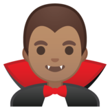 Man Vampire: Medium Skin Tone on Google Android 10.0 March 2020 Feature Drop