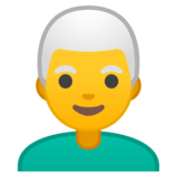 Man: White Hair on Google Android 10.0 March 2020 Feature Drop
