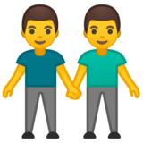 Men Holding Hands on Google Android 10.0 March 2020 Feature Drop