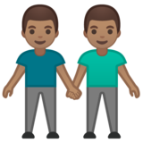 Men Holding Hands: Medium Skin Tone on Google Android 10.0 March 2020 Feature Drop