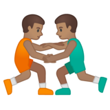 Men Wrestling, Type-4 on Google Android 10.0 March 2020 Feature Drop