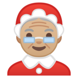 Mrs. Claus: Medium-Light Skin Tone on Google Android 10.0 March 2020 Feature Drop