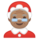 Mrs. Claus: Medium Skin Tone on Google Android 10.0 March 2020 Feature Drop