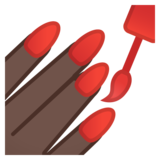 Nail Polish: Dark Skin Tone on Google Android 10.0 March 2020 Feature Drop