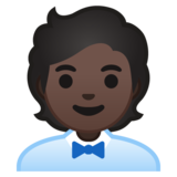 Office Worker: Dark Skin Tone on Google Android 10.0 March 2020 Feature Drop
